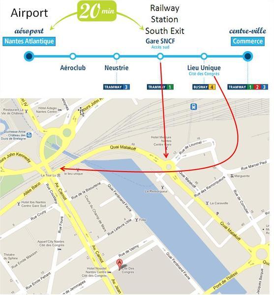 Map of TAN AIR bus stops